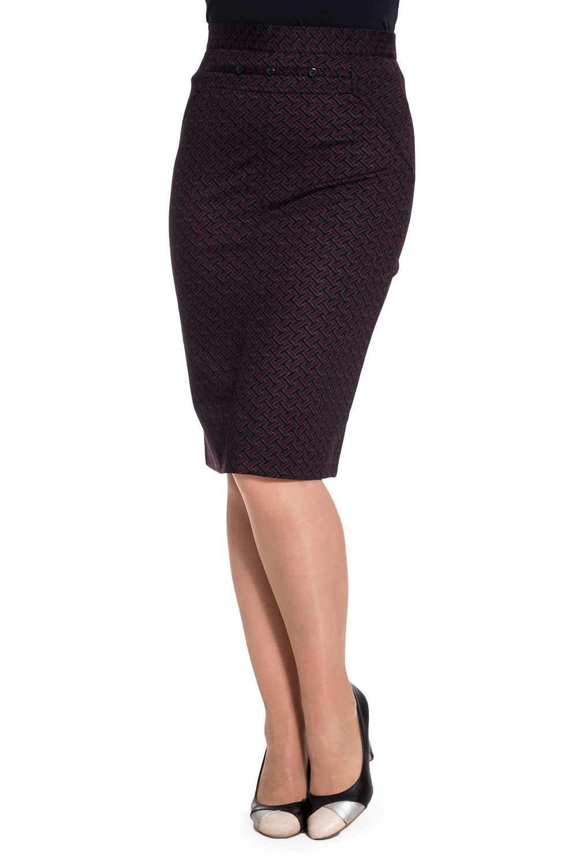 ЮбкаЮбки<br>Утепленная женская юбка ниже колена. Модель выполнена из приятного материала. Пояс декорирован пуговицами. Отличный выбор для повседневного и делового гардероба.  В изделии использованы цвета: синий, красный  Параметры размеров: 44 размер - обхват груди 84 см., обхват талии 72 см., обхват бедер 97 см. 46 размер - обхват груди 92 см., обхват талии 76 см., обхват бедер 100 см. 48 размер - обхват груди 96 см., обхват талии 80 см., обхват бедер 103 см. 50 размер - обхват груди 100 см., обхват талии 84 см., обхват бедер 106 см. 52 размер - обхват груди 104 см., обхват талии 88 см., обхват бедер 109 см. 54 размер - обхват груди 110 см., обхват талии 94,5 см., обхват бедер 114 см. 56 размер - обхват груди 116 см., обхват талии 101 см., обхват бедер 119 см. 58 размер - обхват груди 122 см., обхват талии 107,5 см., обхват бедер 124 см. 60 размер - обхват груди 128 см., обхват талии 114 см., обхват бедер 129 см.  Ростовка изделия 168 см.  Рост девушки-фотомодели 180 см<br><br>По длине: Ниже колена<br>По материалу: Вискоза,Трикотаж<br>По образу: Город,Офис,Свидание<br>По рисунку: С принтом,Цветные<br>По силуэту: Приталенные<br>По стилю: Офисный стиль,Повседневный стиль<br>По форме: Юбка-карандаш<br>По элементам: С декором,С завышенной талией<br>По сезону: Зима<br>Размер : 50<br>Материал: Трикотаж<br>Количество в наличии: 1