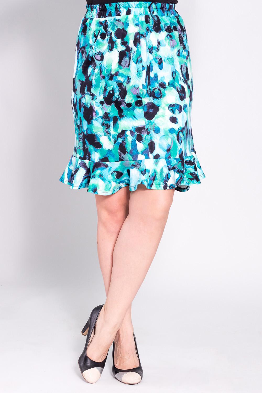 ЮбкаЮбки<br>Замечательная юбка из плотного трикотажа. Отличный выбор для повседневного гардероба.  Цвет: голубой, синий  Рост девушки-фотомодели 180 см<br><br>По длине: Ниже колена<br>По материалу: Трикотаж<br>По рисунку: Абстракция,Цветные<br>По сезону: Весна,Осень<br>По силуэту: Полуприталенные<br>По стилю: Повседневный стиль<br>По форме: Юбка-годе<br>Размер : 46,48,50,52<br>Материал: Джерси<br>Количество в наличии: 4