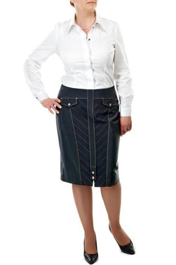 ЮбкаЮбки<br>Замечательная юбка из плотного материала.  Цвет: сине-серый  Ростовка изделия 170 см.<br><br>По длине: До колена<br>По материалу: Костюмные ткани<br>По образу: Город,Офис,Свидание<br>По рисунку: Однотонные<br>По сезону: Весна,Осень<br>По силуэту: Полуприталенные<br>По стилю: Офисный стиль,Повседневный стиль<br>По элементам: С декором<br>Застежка: С пуговицами<br>Размер : 46<br>Материал: Костюмная ткань<br>Количество в наличии: 1