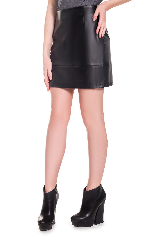 ЮбкаЮбки<br>Ультрамодная кожаная quot;миниquot; юбка, которая подчеркнет Ваши стройные ноги.  Юбка мини с широкой планкой по низу. Верхний срез обработан обтачкой. Молния в боковом шве.  Цвет: черный.  Рост девушки-фотомодели 168 см  Длина изделия: 40 размер - 40 ± 2 см 42 размер - 40 ± 2 см 44 размер - 40 ± 2 см 46 размер - 40 ± 2 см 48 размер - 42 ± 2 см 50 размер - 42 ± 2 см 52 размер - 42 ± 2 см<br><br>По длине: Мини<br>По рисунку: Однотонные<br>По сезону: Весна,Зима,Лето,Осень,Всесезон<br>По силуэту: Приталенные<br>По стилю: Готический стиль,Кэжуал,Молодежный стиль,Ультрамодный стиль<br>Застежка: С молнией<br>По материалу: Искусственная кожа<br>Размер : 42,44,46,48,50<br>Материал: Искусственная кожа<br>Количество в наличии: 16