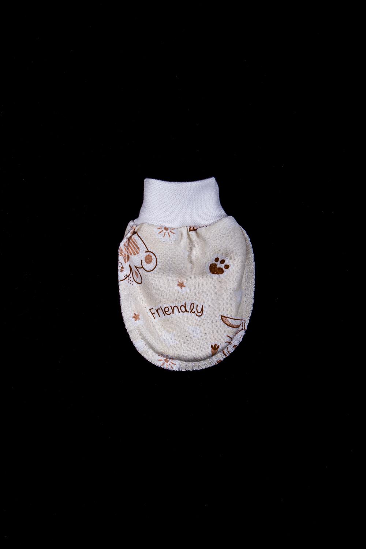 РукавичкиЦарапки<br>Хлопковые рукавички для новорожденного  В изделии использованы цвета: белый и др.  Размер соответствует росту ребенка<br><br>Размер : 56,62<br>Материал: Хлопок<br>Количество в наличии: 2