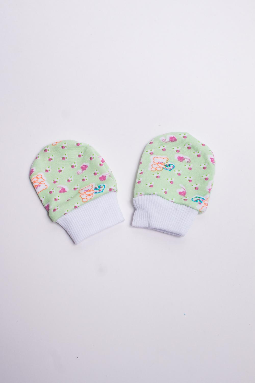 ВарежкиЦарапки<br>Хлопковые варежки для новорожденного  Размер: 7*10 см.  В изделии использованы цвета: зеленый и др.<br><br>По сезону: Всесезон<br>Размер : UNI<br>Материал: Трикотаж<br>Количество в наличии: 4