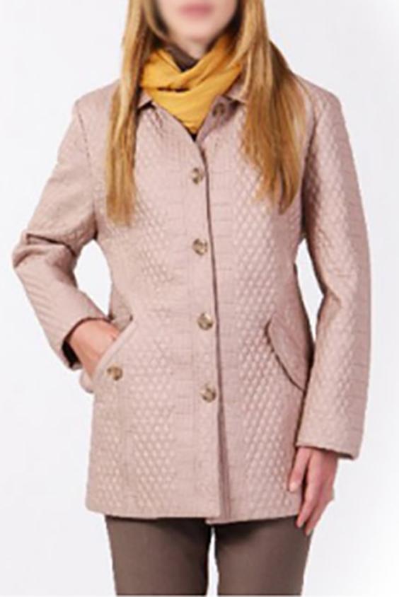 КурткаКуртки<br>Классическая женская куртка. Модель выполнена из плотной ткани. Отличный выбор для повседневного и делового гардероба.  Цвет: бежевый<br><br>Воротник: Отложной<br>По длине: Средней длины<br>По материалу: Тканевые<br>По рисунку: Однотонные<br>По силуэту: Полуприталенные<br>По стилю: Повседневный стиль<br>По форме: Ветровка<br>По элементам: С карманами,Отделка строчкой<br>Застежка: С пуговицами<br>Рукав: Длинный рукав<br>По сезону: Осень,Весна<br>Размер : 48,50,52<br>Материал: Болонья<br>Количество в наличии: 7