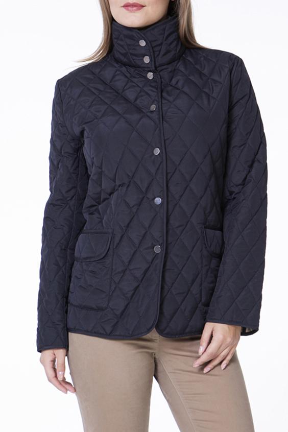 КурткаКуртки<br>Классическая женская куртка с застежкой на кнопки. Модель выполнена из стеганной болоньи. Отличный выбор для повседневного и делового гардероба.  Цвет: темно-синий  Ростовка изделия 170 см.<br><br>Воротник: Стояче-отложной<br>Застежка: С кнопками<br>По длине: Короткие<br>По материалу: Плащевая ткань<br>По рисунку: Однотонные,Фактурный рисунок<br>По силуэту: Прямые<br>По стилю: Классический стиль,Повседневный стиль<br>По элементам: Отделка строчкой,С карманами<br>Рукав: Длинный рукав<br>По сезону: Осень,Весна<br>Размер : 44,46,48,52<br>Материал: Плащевая ткань<br>Количество в наличии: 6
