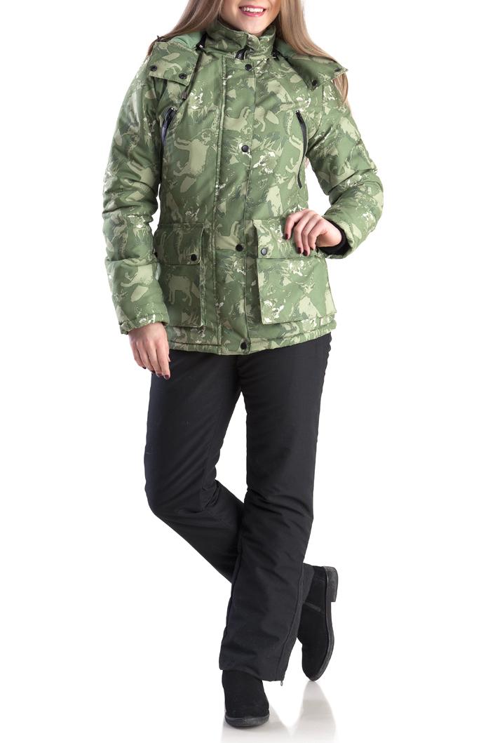 КостюмВерхняя одежда<br>Утеплённый комфортный женский костюм для зимней рыбалки, охоты и активного отдыха. Выполнен из ветронепродуваемой и водонепроницаемой мембранной ткани. Предназначен для защиты от пониженных температур, ветра, атмосферных осадков в зимний период. Отлично сидит на фигуре. Для удобства переобувания по низу штанин - расширитель на молнии с планкой. Костюм лёгкий по весу и удобный в эксплуатации.  Куртка ветрозащитная планка воротник-стойка боковые нагрудные карманы на молнии для согрева рук внутренние карманы на молнии для мобильного телефона и документов большие накладные карманы для мелочей капюшон анатомического кроя с утяжкой по обзору крепление капюшона к куртке замком-молнией трикотажные манжеты в рукаве  Полукомбинезон регулируемая кулиса по талии застёжка-гульфик регулируемые эластичные лямки два набедренных кармана на молнии расширитель в нижней части штанин с планкой на молнии  В изделии использованы цвета: зеленый, темно-серый  Ростовка изделия до размеров 44-46 164 см. Ростовка изделия с размеров 48-50 170 см.<br><br>Воротник: Стойка<br>Застежка: С молнией<br>По длине: Макси<br>По материалу: Плащевая ткань<br>По рисунку: С принтом,Цветные<br>По силуэту: Приталенные<br>По стилю: Повседневный стиль<br>По элементам: С капюшоном,С карманами,С манжетами<br>Рукав: Длинный рукав<br>По сезону: Зима<br>Размер : 44-46,48-50,56-58<br>Материал: Плащевая ткань<br>Количество в наличии: 5