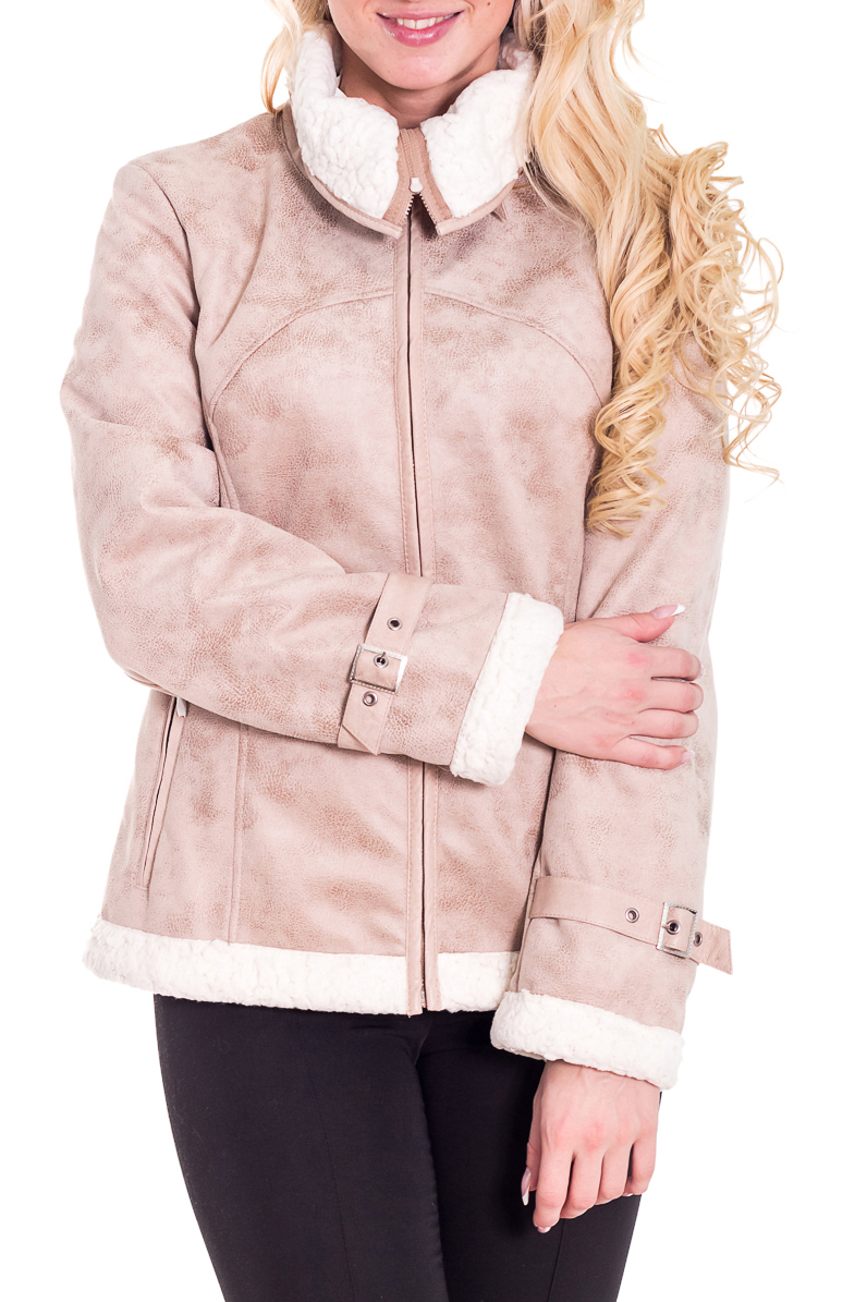 ДубленкаДубленки<br>Осенняя курточка с отложным воротником. Модель выполнена из искусственного меха и кожи. Отличный выбор для повседневного гардероба.  Просим учесть, что изделия маломерит на один размер  Цвет: бежевый, белый  Рост девушки-фотомодели 170 см.  Температурный режим: до -10 градусов.<br><br>Воротник: Отложной<br>По длине: Короткие<br>По материалу: Искусственный мех<br>По рисунку: Цветные<br>По сезону: Весна,Осень<br>По силуэту: Приталенные<br>По стилю: Повседневный стиль<br>По элементам: С декором,С карманами,С молнией,С отделочной фурнитурой<br>Рукав: Длинный рукав<br>Размер : 44,46<br>Материал: Полиэстер<br>Количество в наличии: 2
