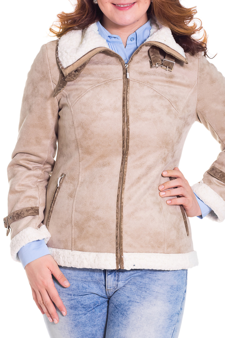 ДубленкаДубленки<br>Осенняя курточка с отложным воротником. Модель выполнена из искусственного меха и кожи. Отличный выбор для повседневного гардероба.  Просим учесть, что изделия маломерит на один размер  Цвет: бежевый, белый  Рост девушки-фотомодели 180 см.  Температурный режим: до -10 градусов.<br><br>Воротник: Отложной<br>По длине: Короткие<br>По материалу: Искусственный мех<br>По образу: Город<br>По рисунку: Цветные<br>По сезону: Весна,Осень<br>По силуэту: Приталенные<br>По стилю: Повседневный стиль<br>По элементам: С декором,С карманами,С молнией,С отделочной фурнитурой<br>Рукав: Длинный рукав<br>Размер : 48<br>Материал: Полиэстер<br>Количество в наличии: 1
