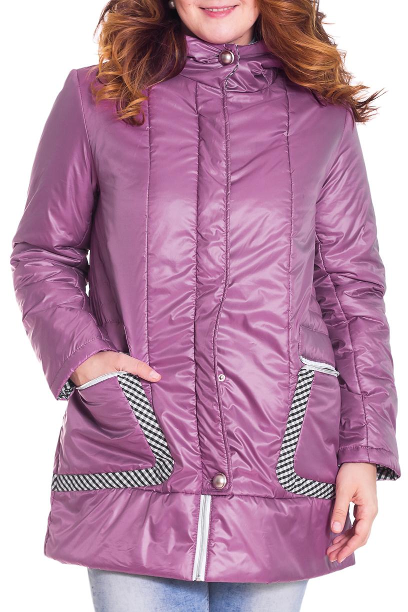 КурткаКуртки<br>Осенняя курточка со стоячим воротником, застежкой молнией и капюшоном. Модель выполнена из плотной болоньи. Отличный выбор для повседневного гардероба.  Цвет: лавандовый  Температурный режим: до -10 градусов.  Рост девушки-фотомодели 180 см.<br><br>Застежка: С молнией<br>По длине: Средней длины<br>По материалу: Плащевая ткань,Тканевые<br>По рисунку: Однотонные<br>По сезону: Весна,Осень<br>По силуэту: Свободные<br>По стилю: Повседневный стиль<br>Рукав: Длинный рукав<br>Размер : 48,50,52<br>Материал: Болонья<br>Количество в наличии: 6