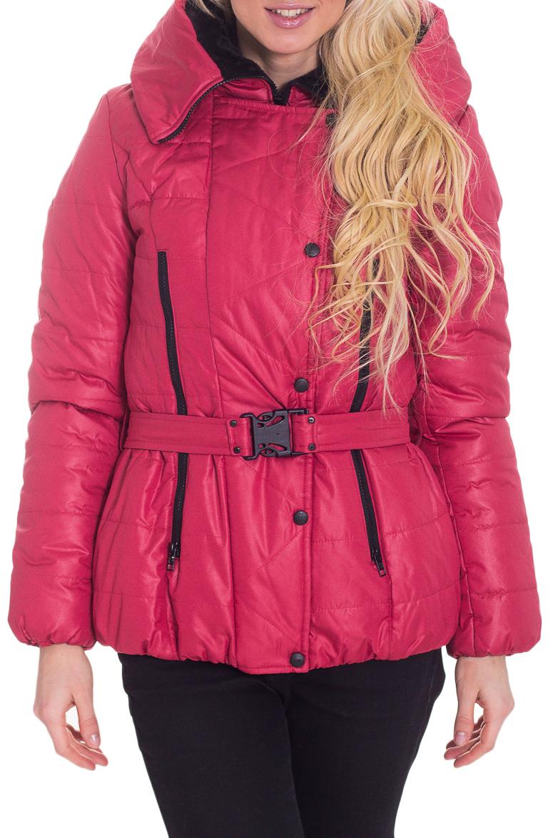 КурткаКуртки<br>Замечательная женская куртка с длинными рукавами, карманами и застежкой на кнопки. Модель выполнена из плотной болоньи. Отличный выбор для повседневного гардероба. Куртка без пояса. Ростовка изделия 170 см.  Цвет: розовый  Температурный режим: до 0 градусов.  Рост девушки-фотомодели 170 см.<br><br>Воротник: Стояче-отложной<br>Застежка: С молнией<br>По материалу: Плащевая ткань<br>По рисунку: Однотонные<br>По силуэту: Полуприталенные<br>По стилю: Повседневный стиль<br>По элементам: С карманами,С капюшоном<br>Рукав: Длинный рукав<br>По сезону: Осень,Весна<br>По длине: Короткие<br>Размер : 44,46<br>Материал: Болонья<br>Количество в наличии: 2