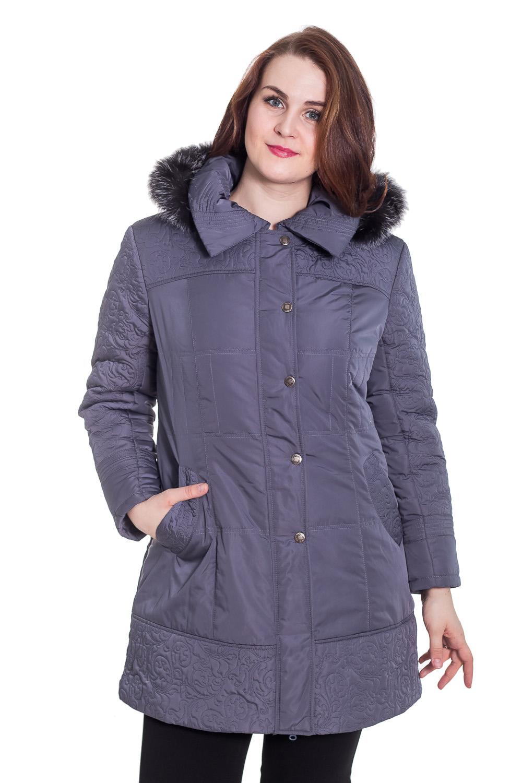 КурткаКуртки<br>Демисезонная курточка с отложным воротником, застежкой на молнию и кнопки и капюшоном с мехом. Модель выполнена из плотной болоньи. Отличный выбор для повседневного гардероба. Ростовка изделия 170 см. Мех на капюшоне может отличаться от картинки.  Цвет: темно-серый  Температурный режим: до -10 градусов.  Рост девушки-фотомодели 180 см.<br><br>По образу: Город<br>По стилю: Повседневный стиль<br>По материалу: Плащевая ткань<br>По рисунку: Однотонные<br>По сезону: Осень,Весна<br>По силуэту: Полуприталенные<br>По элементам: С карманами,С капюшоном<br>По длине: Удлиненные<br>Воротник: Отложной<br>Рукав: Длинный рукав<br>Застежка: С кнопками,С молнией<br>Размер: 50,52<br>Материал: 100% полиэстер<br>Количество в наличии: 1