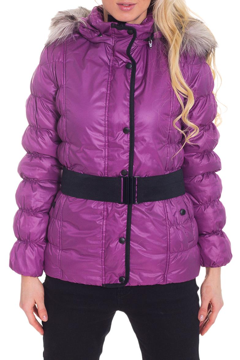 КурткаКуртки<br>Замечательная женская куртка с длинными рукавами, карманами и застежкой на молнию. Модель выполнена из плотной болоньи. Отличный выбор для повседневного гардероба. Куртка без пояса. Ростовка изделия 170 см.  Цвет: фиолетовый  Температурный режим: до -10 градусов.  Рост девушки-фотомодели 170 см.<br><br>Воротник: Стойка<br>Застежка: С кнопками,С молнией<br>По длине: Средней длины<br>По материалу: Мех,Плащевая ткань<br>По образу: Город<br>По рисунку: Однотонные<br>По силуэту: Полуприталенные<br>По стилю: Повседневный стиль<br>По элементам: С капюшоном,С карманами,С манжетами,С подкладом<br>Рукав: Длинный рукав<br>По сезону: Осень,Весна<br>Размер : 44<br>Материал: Болонья<br>Количество в наличии: 1