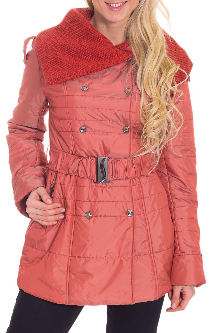 КурткаКуртки<br>Замечательная женская куртка с длинными рукавами, карманами и застежкой на кнопки. Модель выполнена из плотной болоньи. Отличный выбор для повседневного гардероба. Куртка без пояса. Ростовка изделия 170 см.  Цвет: терракотовый  Температурный режим: до 0 градусов.  Рост девушки-фотомодели 170 см.<br><br>Воротник: Отложной<br>Застежка: С кнопками<br>По длине: Средней длины<br>По материалу: Плащевая ткань<br>По образу: Город<br>По рисунку: Однотонные<br>По силуэту: Полуприталенные<br>По стилю: Повседневный стиль<br>По элементам: С карманами,С подкладом<br>Рукав: Длинный рукав<br>По сезону: Осень,Весна<br>Размер : 42<br>Материал: Болонья<br>Количество в наличии: 1