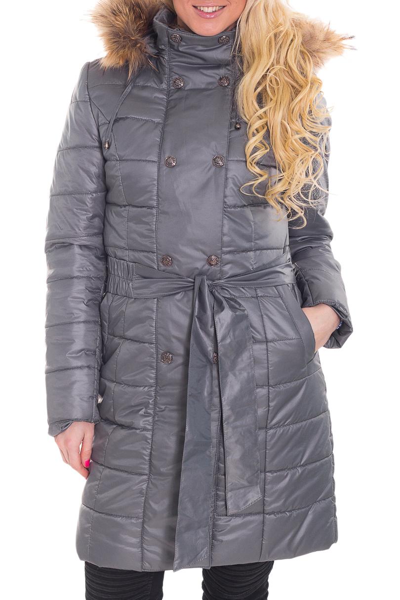 КурткаКуртки<br>Замечательная женская куртка с длинными рукавами, капюшоном с мехом Ростовка изделия 170 см. Куртка без пояса.  Цвет: серый  Рост девушки-фотомодели 170 см  Температурный режим: до -10 градусов.<br><br>Воротник: Стойка<br>Застежка: С молнией<br>По длине: Удлиненные<br>По материалу: Мех,Плащевая ткань<br>По образу: Город<br>По рисунку: Однотонные<br>По сезону: Зима,Осень,Весна<br>По силуэту: Полуприталенные<br>По стилю: Повседневный стиль<br>По элементам: С декором,С капюшоном,С карманами,С манжетами<br>Рукав: Длинный рукав<br>Размер : 48<br>Материал: Болонья<br>Количество в наличии: 1