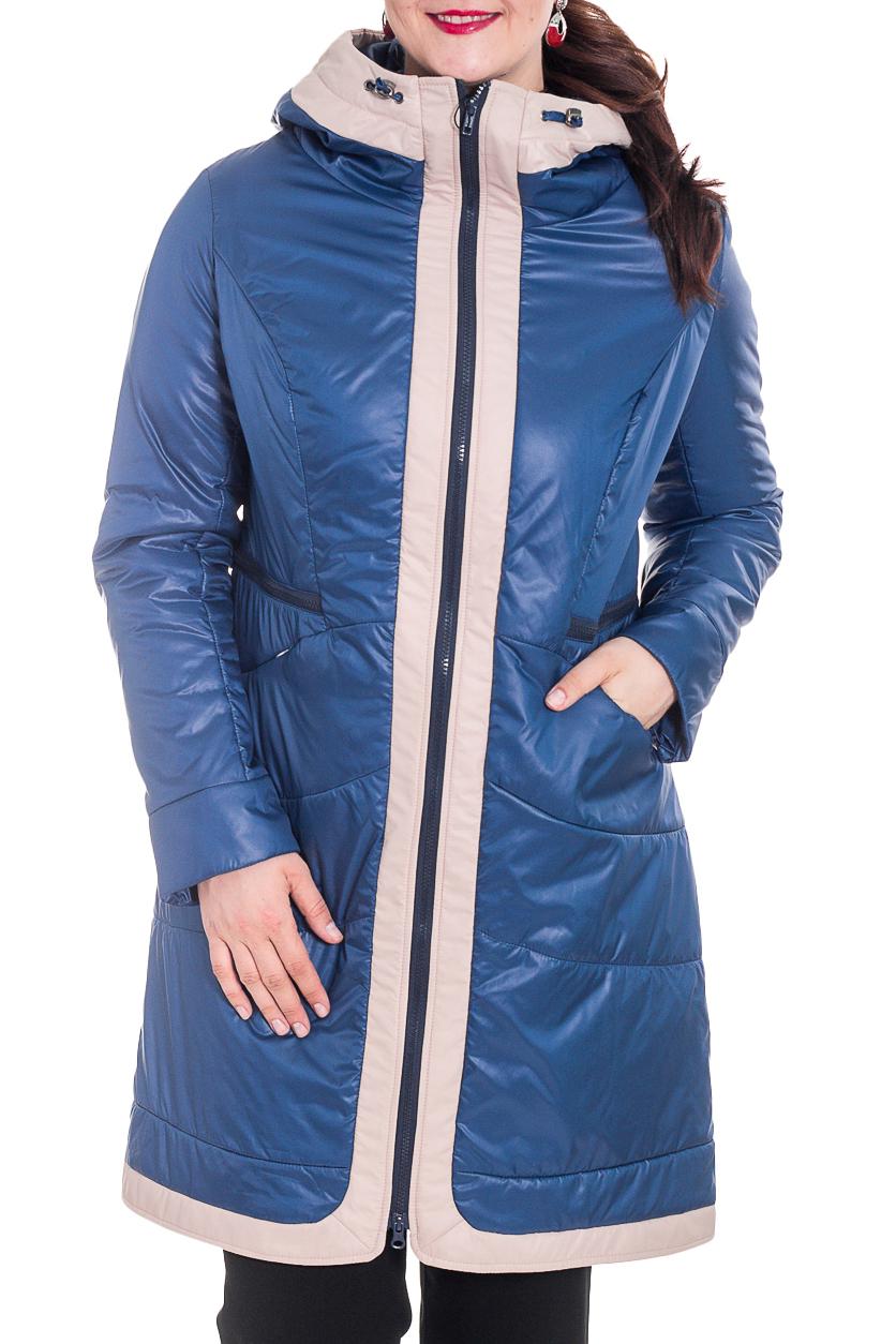 КурткаКуртки<br>Демисезонная курточка со стоячим воротником, застежкой молнией и капюшоном. Модель выполнена из плотной болоньи. Отличный выбор для повседневного гардероба.  Цвет: синий, молочный  Температурный режим: до -10 градусов.  Рост девушки-фотомодели 180 см.<br><br>Воротник: Стойка<br>Застежка: С молнией<br>По материалу: Плащевая ткань<br>По образу: Город<br>По рисунку: Цветные<br>По стилю: Повседневный стиль<br>По элементам: С карманами<br>Рукав: Длинный рукав<br>По сезону: Осень,Весна<br>По длине: Средней длины<br>По силуэту: Прямые<br>Размер : 50<br>Материал: Болонья<br>Количество в наличии: 1