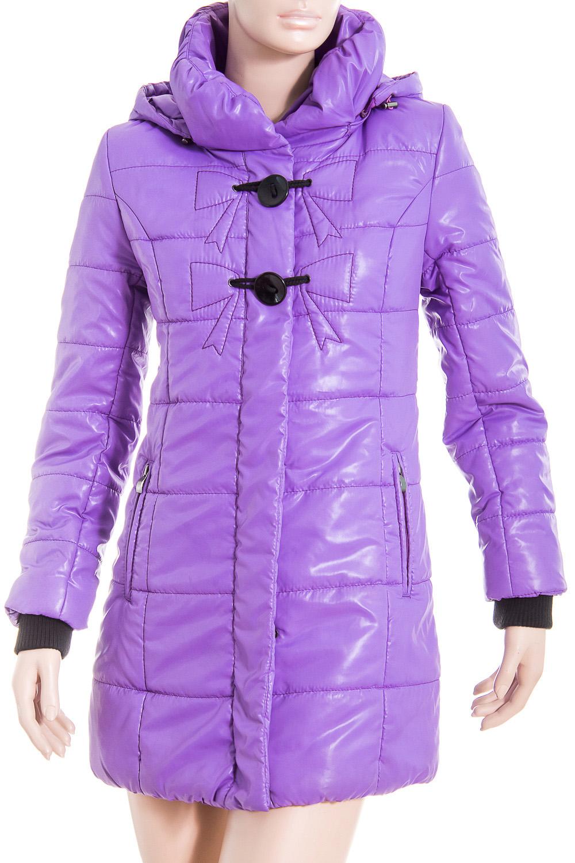 КурткаКуртки<br>Демисезонная курточка с объемным воротником, застежкой на молнию и капюшоном. Модель выполнена из плотной плащевой ткани. Отличный выбор для повседневного гардероба. Ростовка изделия 170 см.  Цвет: фиолетовый  Температурный режим: до -10 градусов.<br><br>Воротник: Стойка<br>Застежка: С молнией<br>По длине: Удлиненные<br>По материалу: Плащевая ткань<br>По рисунку: Цветные<br>По силуэту: Полуприталенные<br>По стилю: Повседневный стиль<br>По элементам: С капюшоном,С карманами,С манжетами<br>Рукав: Длинный рукав<br>По сезону: Осень,Весна<br>Размер : 42<br>Материал: Болонья<br>Количество в наличии: 1
