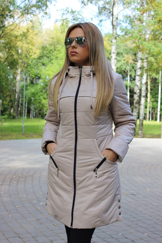 КурткаКуртки<br>Демисезонная курточка со стоячим воротником, застежкой молнией и капюшоном. Модель выполнена из плотной болоньи. Отличный выбор для повседневного гардероба.  В изделии использованы цвета: бежевый, черный  Температурный режим до -10 градусов.  Ростовка изделия 170 см.<br><br>Воротник: Стойка<br>Застежка: С молнией<br>По длине: Средней длины<br>По рисунку: Однотонные<br>По силуэту: Полуприталенные<br>По стилю: Повседневный стиль<br>По элементам: С капюшоном,С карманами<br>Рукав: Длинный рукав<br>По сезону: Осень,Весна<br>Размер : 42,44<br>Материал: Болонья<br>Количество в наличии: 2