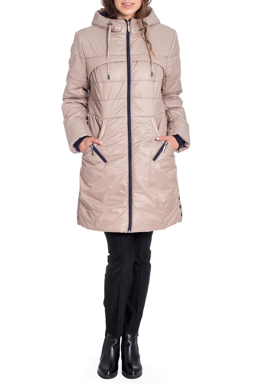 КурткаКуртки<br>Демисезонная курточка со стоячим воротником, застежкой молнией и капюшоном. Модель выполнена из плотной болоньи. Отличный выбор для повседневного гардероба.  Ростовка изделия 170 см.  В изделии использованы цвета: бежевый, синий  Температурный режим до -10 градусов.  Рост девушки-фотомодели 170 см<br><br>Воротник: Стойка<br>Застежка: С молнией<br>По длине: Удлиненные<br>По рисунку: Однотонные<br>По силуэту: Полуприталенные<br>По стилю: Повседневный стиль<br>По элементам: С капюшоном,С карманами,С манжетами,С отделочной фурнитурой<br>Рукав: Длинный рукав<br>По сезону: Осень,Весна<br>Размер : 42,44<br>Материал: Болонья<br>Количество в наличии: 2