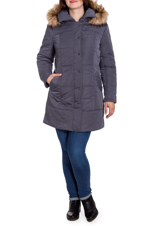 КурткаКуртки<br>Зимняя куртка с капюшоном. Модель выполнена из плотной болоньи с декоративной строчкой. Отличный выбор для повседневного гардероба.  Цвет: графитовый  Температурный режим: до -15 градусов.  Рост девушки-фотомодели 180 см<br><br>Воротник: Отложной<br>Застежка: С кнопками,С молнией<br>По длине: Средней длины<br>По образу: Город<br>По рисунку: Однотонные<br>По силуэту: Полуприталенные<br>По стилю: Повседневный стиль<br>По элементам: С капюшоном,С карманами,Отделка строчкой<br>Рукав: Длинный рукав<br>По сезону: Зима<br>Размер : 50,52,56<br>Материал: Болонья<br>Количество в наличии: 3
