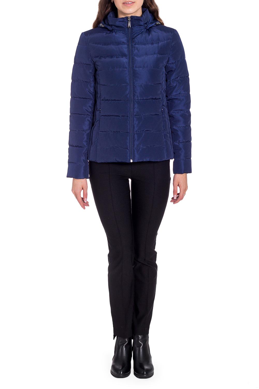 КурткаКуртки<br>Однотонная куртка до линии бедра. Модель выполнена из плотной болоньи. Отличный выбор для повседневного гардероба.  Ростовка изделия 170 см.  Цвет: синий  Температурный режим до -10 градусов.  Рост девушки-фотомодели 170 см<br><br>Воротник: Стойка<br>Застежка: С молнией<br>По длине: Короткие<br>По рисунку: Однотонные<br>По силуэту: Полуприталенные<br>По стилю: Повседневный стиль,Спортивный стиль<br>По элементам: С карманами,С капюшоном<br>Рукав: Длинный рукав<br>По сезону: Осень,Весна<br>Размер : 42,44,46,48<br>Материал: Болонья<br>Количество в наличии: 4