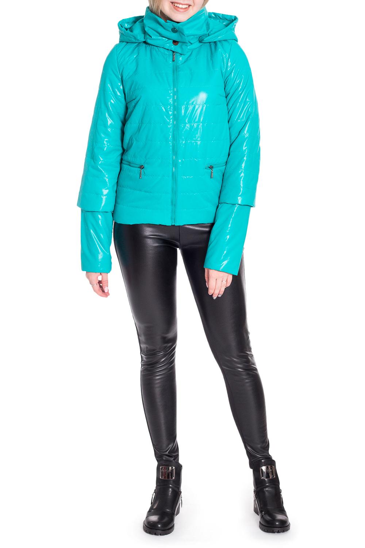 КурткаКуртки<br>Молодежная куртка с отстегивающимися рукавами. Модель выполнена из плотной болоньи. Отличный выбор для повседневного гардероба.  В изделии использованы цвета: бирюзовый  Рост девушки-фотомодели 170 см.<br><br>Воротник: Стойка<br>Застежка: С молнией<br>По длине: Короткие<br>По материалу: Плащевая ткань<br>По рисунку: Однотонные<br>По силуэту: Полуприталенные<br>По стилю: Кэжуал,Молодежный стиль,Повседневный стиль<br>По элементам: С карманами,С отделочной фурнитурой<br>Рукав: Длинный рукав,Рукав три четверти<br>По сезону: Осень,Весна<br>Размер : 40<br>Материал: Болонья<br>Количество в наличии: 1
