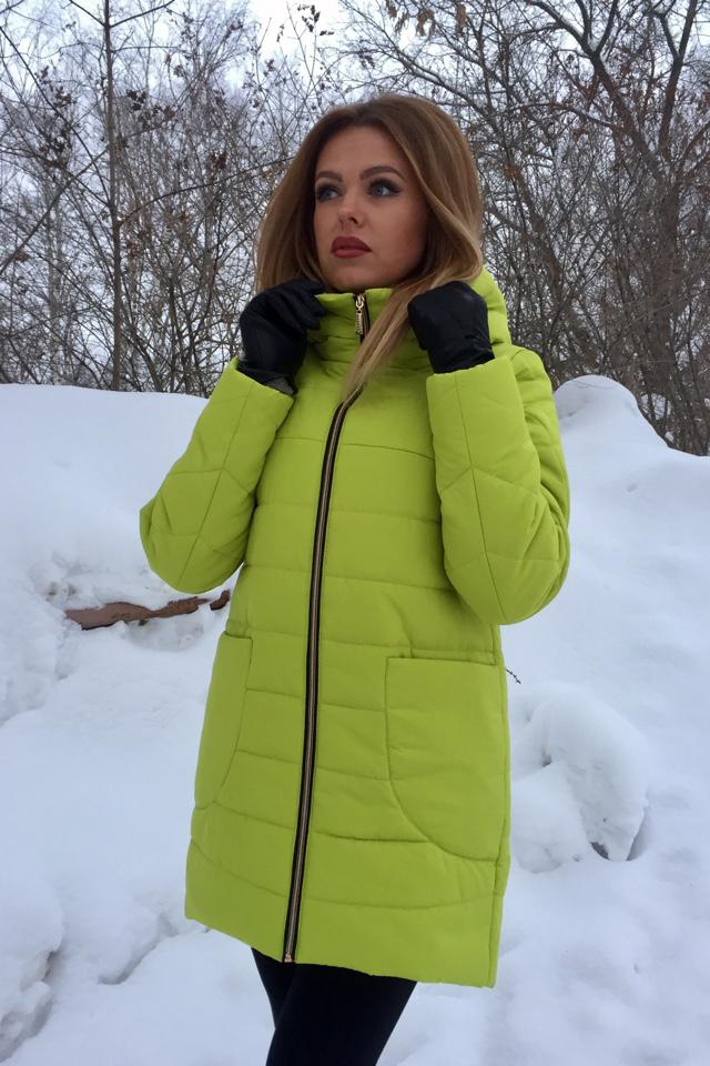 КурткаКуртки<br>Яркая куртка трапециевидного силуэта. Модель выполнена из плотной болоньи. Отличный выбор для повседневного гардероба.  В изделии использованы цвета: салатовый  Ростовка изделия 170 см.<br><br>Воротник: Стойка<br>Застежка: С молнией<br>По длине: Средней длины<br>По материалу: Плащевая ткань<br>По рисунку: Однотонные<br>По сезону: Зима,Осень,Весна<br>По силуэту: Полуприталенные<br>По стилю: Повседневный стиль<br>По элементам: С карманами<br>Рукав: Длинный рукав<br>Размер : 42,44,46,48,50<br>Материал: Болонья<br>Количество в наличии: 5