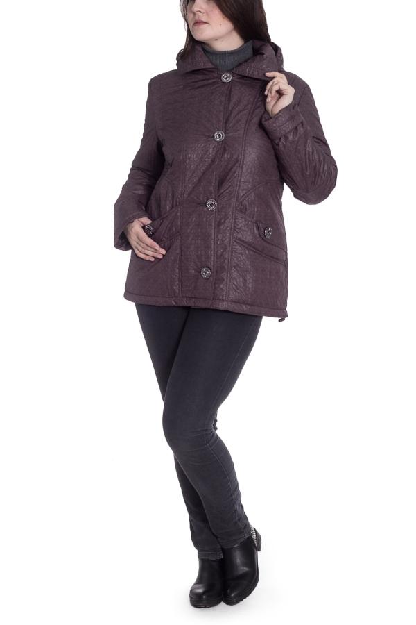 КурткаКуртки<br>Однотонная куртка с застежкой на пуговицы и капюшоном. Модель выполнена из плотного материала. Отличный выбор для любого случая.  Цвет: коричневый  Рост девушки-фотомодели 180 см<br><br>Воротник: Отложной<br>Застежка: С пуговицами<br>По длине: Средней длины<br>По материалу: Плащевая ткань<br>По рисунку: Однотонные,Фактурный рисунок<br>По силуэту: Полуприталенные<br>По стилю: Повседневный стиль<br>По элементам: С капюшоном,С карманами<br>Рукав: Длинный рукав<br>По сезону: Осень,Весна<br>Размер : 50,52,54,56<br>Материал: Болонья<br>Количество в наличии: 4