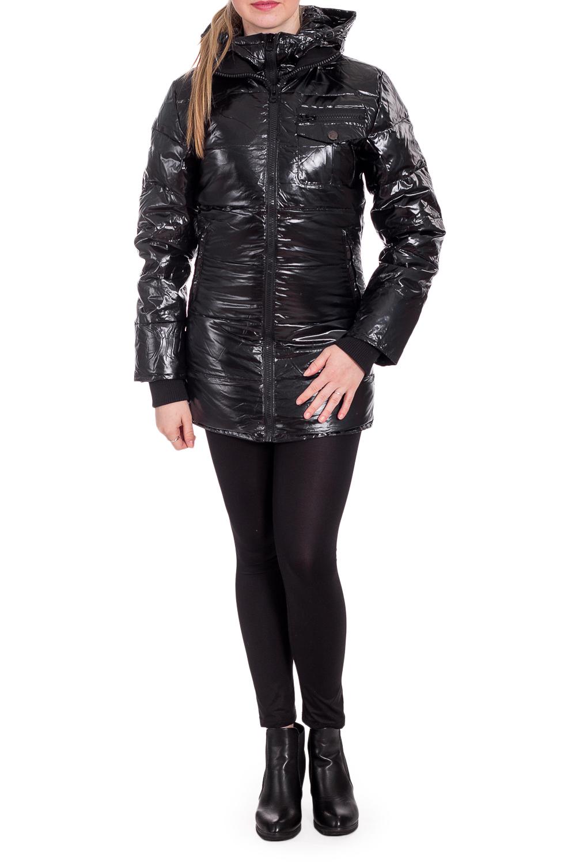 КурткаКуртки<br>Теплая куртка с капюшоном. Модель выполнена из плотной болоньи. Отличный вариант для повседневного гардероба.  Утеплитель: пух+перо  Цвет: черный  Рост девушки-фотомодели 170 см<br><br>Воротник: Стойка<br>Застежка: С молнией<br>По образу: Город<br>По рисунку: Однотонные<br>По силуэту: Полуприталенные<br>По стилю: Повседневный стиль<br>По элементам: С капюшоном,С карманами,С отделочной фурнитурой<br>Рукав: Длинный рукав<br>По сезону: Осень,Весна<br>Размер : 44,46<br>Материал: Болонья<br>Количество в наличии: 4