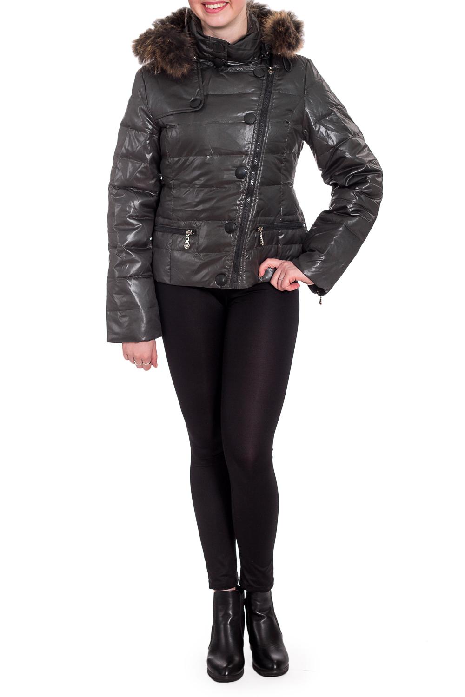 КурткаКуртки<br>Укороченная куртка с капюшоном. Модель выполнена из плотной болоньи. Отличный вариант для повседневного гардероба. Мех и капюшон отстегиваются. Куртка без пояса.  Цвет: серый  Рост девушки-фотомодели 170 см<br><br>Воротник: Стойка<br>Застежка: С молнией<br>По длине: Короткие<br>По образу: Город<br>По рисунку: Однотонные<br>По силуэту: Полуприталенные<br>По стилю: Повседневный стиль<br>По элементам: С капюшоном,С карманами,С отделочной фурнитурой<br>Рукав: Длинный рукав<br>По сезону: Осень,Весна<br>Размер : 40,42,44,46<br>Материал: Болонья<br>Количество в наличии: 6