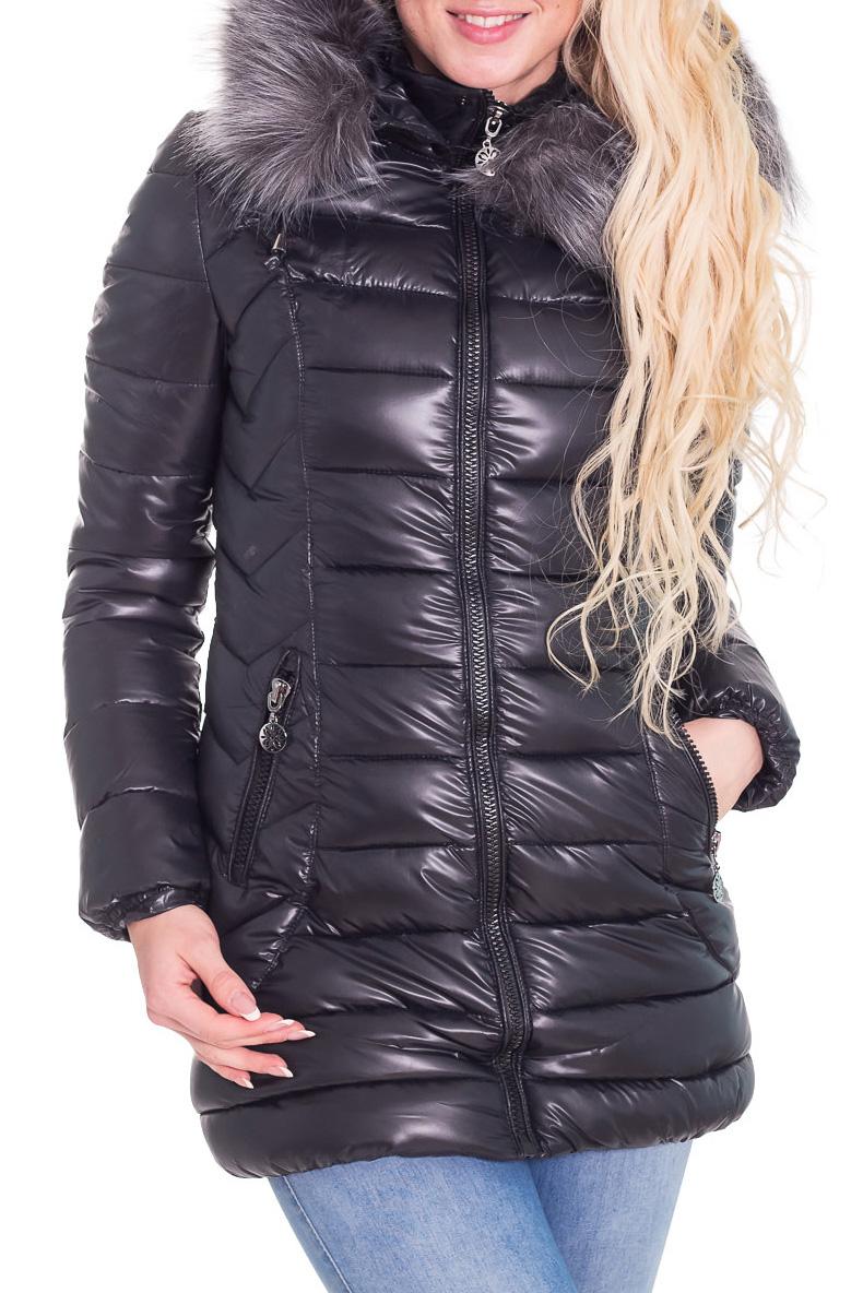 КурткаКуртки<br>Теплая зимняя курточка со стоячим воротником, застежкой молнией и капюшоном. Модель выполнена из плотной болоньи. Отличный выбор для повседневного гардероба.  Цвет: черный  Температурный режим от -20 до -25 градусов.  Рост девушки-фотомодели 170 см.<br><br>Воротник: Стойка<br>Застежка: С молнией<br>По длине: Средней длины<br>По материалу: Плащевая ткань<br>По рисунку: Однотонные<br>По сезону: Зима<br>По силуэту: Полуприталенные<br>По стилю: Повседневный стиль<br>По элементам: С карманами<br>Рукав: Длинный рукав<br>Размер : 42<br>Материал: Болонья<br>Количество в наличии: 1