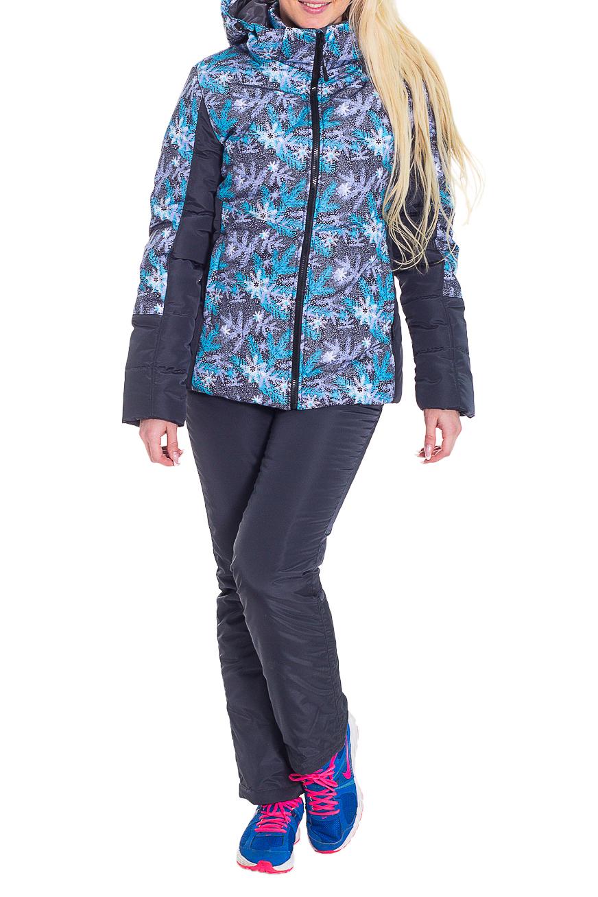 КостюмВерхняя одежда<br>Утепленный женский костюм для активного отдыха.  Цвет: серый, голубой, сиреневый, белый  Рост девушки-фотомодели 170 см.<br><br>Воротник: Стойка<br>По длине: Макси<br>По материалу: Плащевая ткань<br>По рисунку: Абстракция,Цветные,С принтом<br>По силуэту: Полуприталенные<br>По стилю: Повседневный стиль,Спортивный стиль<br>По элементам: С декором,С капюшоном,С карманами<br>Рукав: Длинный рукав<br>По сезону: Зима<br>Застежка: С молнией<br>Размер : 42,44,50<br>Материал: Болонья<br>Количество в наличии: 3