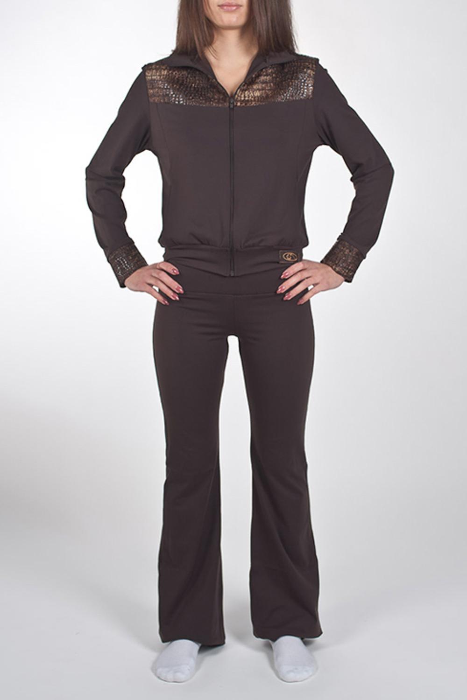 КурткаСпортивная одежда<br>Оригинальная куртка на молнии с двумя карманами для занятий спортом и свободного стиля. Модель декорирована вставками из ткани под имитацию кожи. Изделие выполнено из ткани Supplex производитель DuPont - это высококачественный полиэстр. На ощупь и внешний вид он схож с мягким хлопком. Также это воздухопроницаемая ткань. Ткань SUPPLEX мягче, чем обычный полиэстр, так как она изготовлена из более тонких нитей. Изделия из SUPPLEX не выгорают, не создают парниковый эффект и позволяют телу дышать.  Модель идеально будет смотреться с брюками B(6)-NNE (для просмотра модели введите артикул в строке поиска)  Цвет: коричневый  Ростовка изделия 170 см.<br><br>Воротник: Стойка<br>Застежка: С молнией<br>По длине: До колена<br>По материалу: Трикотаж<br>По рисунку: Однотонные<br>По силуэту: Полуприталенные<br>По стилю: Повседневный стиль,Спортивный стиль<br>По элементам: С манжетами<br>Рукав: Длинный рукав<br>По сезону: Осень,Весна<br>Размер : 46,50<br>Материал: Трикотаж<br>Количество в наличии: 2