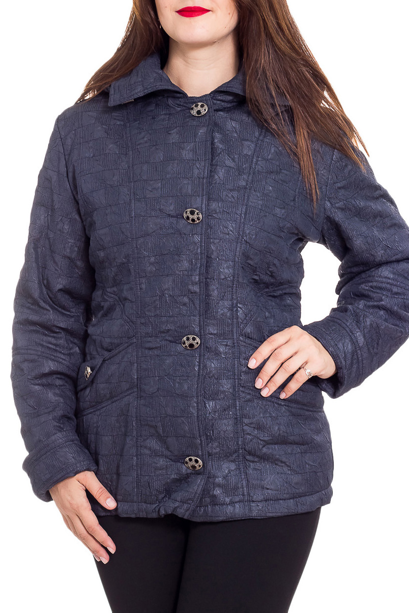 КурткаКуртки<br>Однотонная куртка с застежкой на пуговицы и капюшоном. Модель выполнена из плотного материала. Отличный выбор для любого случая.  Цвет: синий  Рост девушки-фотомодели 180 см<br><br>Воротник: Отложной<br>Застежка: С пуговицами<br>По длине: Средней длины<br>По материалу: Плащевая ткань<br>По рисунку: Однотонные<br>По силуэту: Полуприталенные<br>По стилю: Повседневный стиль<br>По элементам: С капюшоном,С карманами<br>Рукав: Длинный рукав<br>По сезону: Осень,Весна<br>Размер : 50,52,54,56<br>Материал: Болонья<br>Количество в наличии: 5