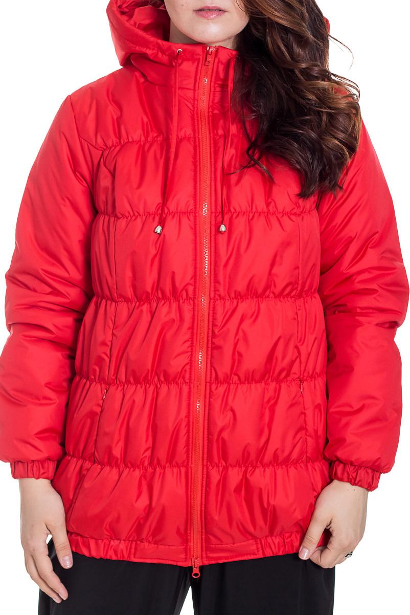 КурткаКуртки<br>Стёганая куртка спортивного стиля модной расцветки. Модель с втачным рукавом, с капюшоном, застёжка на молнию, снабжена наружными карманами, застёгивающимися на потайную молнию. Отлично сидит на фигуре. В ней будет тепло весной и осенью.   Новый высококачественный утеплителю Termofinn, изготовленный по европейским технологиям, на новейшем импортном оборудовании. Сохраняет форму после стирки, экологически безопасен и быстро высыхает. Модель представлена в нескольких цветах.  За счет свободного кроя и эластичного материала изделие можно носить во время беременности  Цвет: красный  Замеры для 42 размера. Длина изделия: по спинке 70 см Длина рукава: 61 см Обхват по линии талии: 124 см ( в растянутом состоянии )  Рекомендована  до  - 7-10 градусов  Ростовка изделия 170 см.  Рост девушки-фотомодели 180 см.<br><br>Воротник: Стойка<br>Застежка: С молнией<br>По длине: Средней длины<br>По материалу: Плащевая ткань<br>По образу: Город<br>По рисунку: Однотонные<br>По силуэту: Полуприталенные<br>По стилю: Повседневный стиль<br>По элементам: С карманами,С манжетами<br>Рукав: Длинный рукав<br>По сезону: Осень,Весна<br>Размер : 46,48<br>Материал: Болонья<br>Количество в наличии: 2