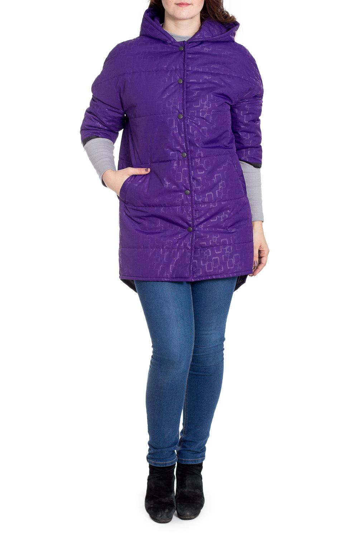КурткаКуртки<br>Ультрамодная куртка с удлиненной спинкой. Модель выполнена из плотной болоньи с застежкой на кнопки. Отличный выбор для повседневного гардероба.  Цвет: фиолетовый  Рост девушки-фотомодели 180 см.<br><br>Застежка: С кнопками<br>По длине: Средней длины<br>По рисунку: Однотонные,С принтом<br>По силуэту: Прямые<br>По стилю: Кэжуал,Молодежный стиль,Повседневный стиль<br>По элементам: С капюшоном,С карманами,С фигурным низом<br>Рукав: Рукав три четверти<br>По сезону: Осень,Весна<br>Размер : 46-48,50<br>Материал: Болонья<br>Количество в наличии: 3