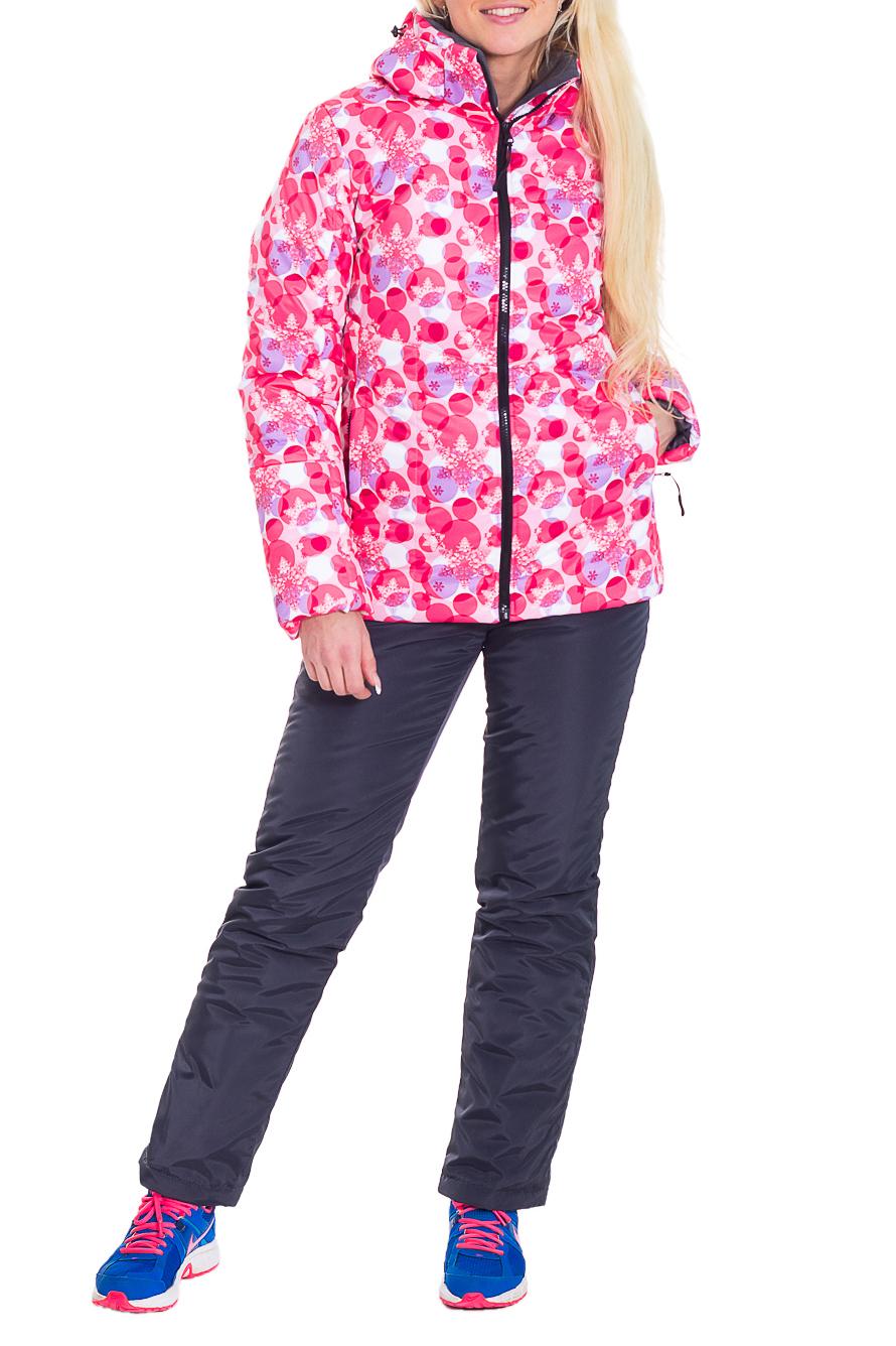 КостюмВерхняя одежда<br>Утепленный женский костюм для активного отдыха.  Цвет: розовый, серый  Рост девушки-фотомодели 170 см.<br><br>Воротник: Стойка<br>По длине: Макси<br>По материалу: Плащевая ткань<br>По рисунку: Цветные<br>По силуэту: Полуприталенные<br>По стилю: Повседневный стиль,Спортивный стиль<br>По элементам: С декором,С капюшоном,С карманами<br>Рукав: Длинный рукав<br>По сезону: Зима<br>Размер : 42,44,48,50<br>Материал: Болонья<br>Количество в наличии: 4