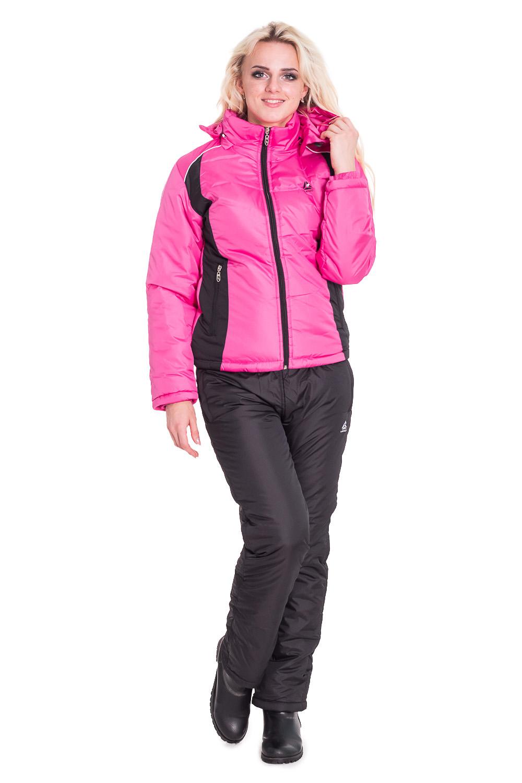 КостюмВерхняя одежда<br>Теплый костюм состоит из брюк и куртки. Модель выполнена из плотной болоньи. Отличный выбор для повседневного гардероба или активного отдыха.  Цвет: черный, розовый  Рост девушки-фотомодели 170 см.<br><br>Воротник: Стойка<br>Застежка: С молнией<br>По длине: Макси<br>По материалу: Тканевые<br>По образу: Город,Спорт<br>По рисунку: Цветные<br>По сезону: Зима<br>По силуэту: Полуприталенные<br>По стилю: Повседневный стиль,Спортивный стиль<br>По элементам: С капюшоном,С карманами<br>Рукав: Длинный рукав<br>Размер : 44,46,48,50,52,54<br>Материал: Болонья<br>Количество в наличии: 2