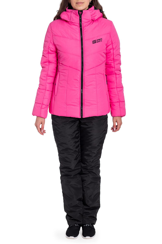 КостюмВерхняя одежда<br>Удобный и теплый спортивный костюм состоит из куртки и брюк. Модель выполнена из плотной болоньи. Отличный выбор для занятий спортом или активного отдыха.  В изделии использованы цвета: черный, розовый  Рост девушки-фотомодели 170 см<br><br>Воротник: Стойка<br>Застежка: С молнией<br>По длине: Макси<br>По рисунку: Цветные<br>По силуэту: Полуприталенные<br>По стилю: Повседневный стиль,Спортивный стиль<br>По элементам: С капюшоном,С карманами<br>Рукав: Длинный рукав<br>По сезону: Зима<br>Размер : 42,44,46,50<br>Материал: Болонья<br>Количество в наличии: 4