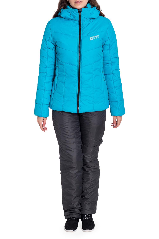 КостюмВерхняя одежда<br>Удобный и теплый спортивный костюм состоит из куртки и брюк. Модель выполнена из плотной болоньи. Отличный выбор для занятий спортом или активного отдыха.  В изделии использованы цвета: серый, голубой  Рост девушки-фотомодели 170 см<br><br>Воротник: Стойка<br>Застежка: С молнией<br>По длине: Макси<br>По рисунку: Цветные<br>По силуэту: Полуприталенные<br>По стилю: Повседневный стиль,Спортивный стиль<br>По элементам: С капюшоном,С карманами<br>Рукав: Длинный рукав<br>По сезону: Зима<br>Размер : 42,44,46,50<br>Материал: Болонья<br>Количество в наличии: 4