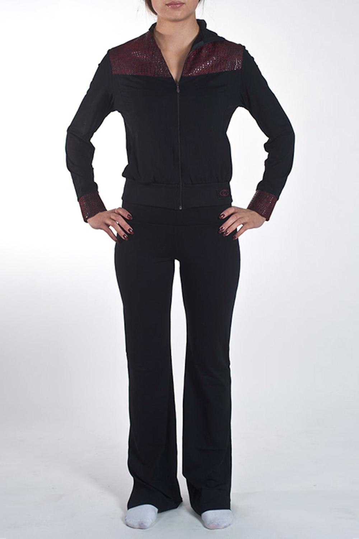 КурткаСпортивная одежда<br>Оригинальная куртка на молнии с двумя карманами для занятий спортом и свободного стиля. Модель декорирована вставками из ткани под имитацию кожи. Изделие выполнено из ткани Supplex производитель DuPont - это высококачественный полиэстр. На ощупь и внешний вид он схож с мягким хлопком. Также это воздухопроницаемая ткань. Ткань SUPPLEX мягче, чем обычный полиэстр, так как она изготовлена из более тонких нитей. Изделия из SUPPLEX не выгорают, не создают парниковый эффект и позволяют телу дышать.  Модель идеально будет смотреться с брюками B(5)-NNE (для просмотра модели введите артикул в строке поиска)  Цвет: черный  Ростовка изделия 170 см.<br><br>Воротник: Стойка<br>Застежка: С молнией<br>По длине: До колена<br>По материалу: Трикотаж<br>По образу: Спорт<br>По рисунку: Однотонные<br>По силуэту: Полуприталенные<br>По стилю: Повседневный стиль,Спортивный стиль<br>По элементам: С манжетами<br>Рукав: Длинный рукав<br>По сезону: Осень,Весна<br>Размер : 46,48,50<br>Материал: Трикотаж<br>Количество в наличии: 3