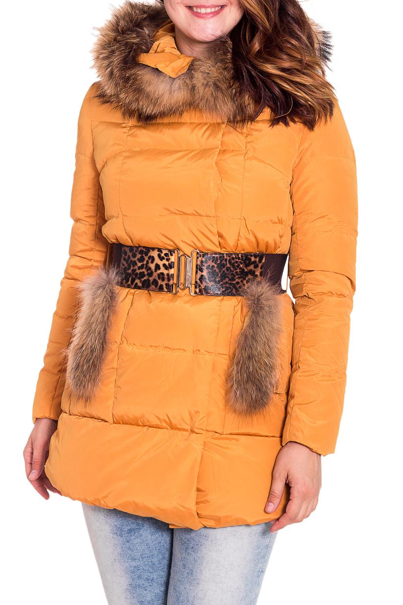 КурткаКуртки<br>Зимняя куртка с отделкой из меха. Модель выполнена из непродуваемой ткани. Отличный выбор для повседневного гардероба. Пояс в комплект не входит  Цвет: желтый  Рост девушки-фотомодели 180 см.<br><br>Застежка: С молнией<br>По длине: Средней длины<br>По материалу: Мех,Плащевая ткань<br>По образу: Город<br>По рисунку: Однотонные<br>По сезону: Зима<br>По силуэту: Полуприталенные<br>По стилю: Повседневный стиль<br>По элементам: С капюшоном,С карманами<br>Рукав: Длинный рукав<br>Размер : 46<br>Материал: Болонья<br>Количество в наличии: 3