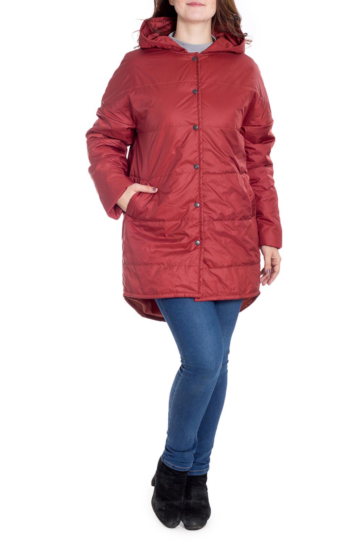 КурткаКуртки<br>Ультрамодная куртка с удлиненной спинкой. Модель выполнена из плотной болоньи с застежкой на кнопки. Отличный выбор для повседневного гардероба.  Цвет: кирпичный  Рост девушки-фотомодели 180 см.<br><br>Застежка: С кнопками<br>По длине: Средней длины<br>По рисунку: Однотонные<br>По силуэту: Прямые<br>По стилю: Кэжуал,Молодежный стиль,Повседневный стиль<br>По элементам: С капюшоном,С карманами,С фигурным низом<br>Рукав: Длинный рукав<br>По сезону: Осень,Весна<br>Размер : 52<br>Материал: Болонья<br>Количество в наличии: 1