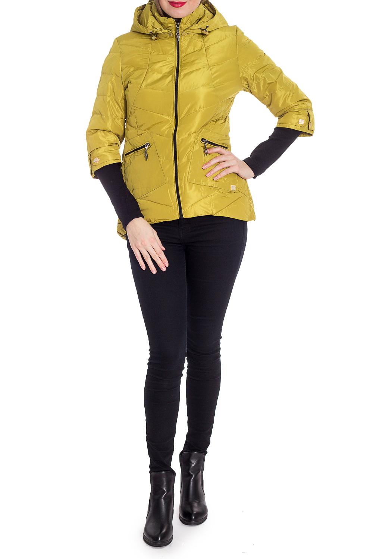 КурткаКуртки<br>Однотонная короткая куртка с трикотажными манжетами. Модель выполнена из плотной болоньи. Отличный выбор для повседневного гардероба.  В изделии использованы цвета: горчичный, черный  Рост девушки-фотомодели 170 см.<br><br>Воротник: Стойка<br>Застежка: С молнией<br>По длине: Короткие<br>По материалу: Плащевая ткань<br>По рисунку: Однотонные<br>По силуэту: Полуприталенные<br>По стилю: Кэжуал,Молодежный стиль,Повседневный стиль<br>По элементам: С капюшоном,С карманами,С отделочной фурнитурой,С фигурным низом<br>Рукав: Длинный рукав<br>По сезону: Осень,Весна<br>Размер : 42,44,48<br>Материал: Болонья<br>Количество в наличии: 3