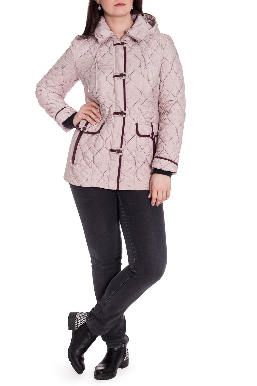 КурткаКуртки<br>Замечательная куртка с контрастной отделкой. Модель выполнена из стеганного материала. Отличный выбор для повседневного гардероба.  В изделии использованы цвета: бежево-розовый, фиолетовый  Рост девушки-фотомодели 180 см.<br><br>Воротник: Отложной<br>Застежка: С молнией,С пуговицами<br>По длине: Средней длины<br>По рисунку: Однотонные,Фактурный рисунок<br>По силуэту: Полуприталенные<br>По стилю: Повседневный стиль<br>По элементам: С декором,С капюшоном,С карманами,С манжетами<br>Рукав: Длинный рукав<br>По сезону: Осень,Весна<br>Размер : 48<br>Материал: Болонья<br>Количество в наличии: 1