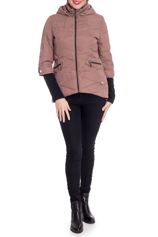 КурткаКуртки<br>Однотонная короткая куртка с трикотажными манжетами. Модель выполнена из плотной болоньи. Отличный выбор для повседневного гардероба.  В изделии использованы цвета: бежевый, черный  Рост девушки-фотомодели 170 см.<br><br>Воротник: Стойка<br>Застежка: С молнией<br>По длине: Короткие<br>По материалу: Плащевая ткань<br>По рисунку: Однотонные<br>По силуэту: Полуприталенные<br>По стилю: Кэжуал,Молодежный стиль,Повседневный стиль<br>По элементам: С капюшоном,С карманами,С отделочной фурнитурой,С фигурным низом<br>Рукав: Длинный рукав<br>По сезону: Осень,Весна<br>Размер : 42,44,46<br>Материал: Болонья<br>Количество в наличии: 3
