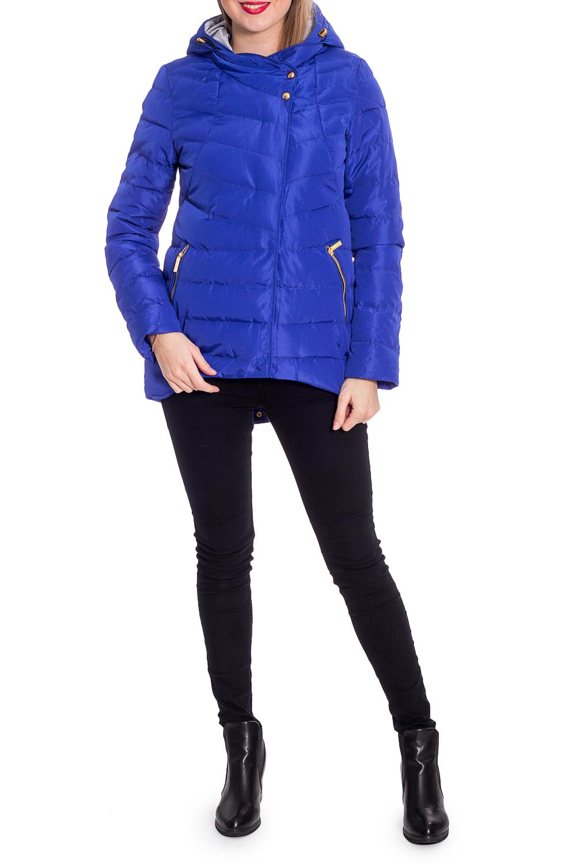 КурткаКуртки<br>Однотонная куртка трапециевидного силуэта с капюшоном. Модель выполнена из плотной болоньи. Отличный выбор для повседневного гардероба.  В изделии использованы цвета: синий  Рост девушки-фотомодели 170 см.<br><br>Воротник: Стойка<br>Застежка: С кнопками,С молнией<br>По длине: Короткие<br>По материалу: Плащевая ткань<br>По рисунку: Однотонные<br>По силуэту: Свободные<br>По стилю: Кэжуал,Молодежный стиль,Повседневный стиль,Спортивный стиль<br>По элементам: С капюшоном,С карманами<br>Рукав: Длинный рукав<br>По сезону: Осень,Весна<br>Размер : 42,44,48,50<br>Материал: Болонья<br>Количество в наличии: 5