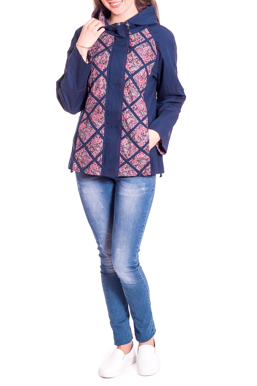 ВетровкаВерхняя одежда<br>Облегченная ветровка с застежкой на молнию и пуговицы. Модель выполнена из плотного материала. Отличный выбор для повседневного гардероба.Ростовка изделия 164 см.В изделии использованы цвета: синий, розовый и др.Рост девушки-фотомодели 170 см.<br><br>Застежка: С пуговицами<br>Рукав: Длинный рукав<br>Длина: До колена<br>Материал: Хлопок<br>Рисунок: С принтом,Цветные<br>Сезон: Весна,Осень<br>Силуэт: Полуприталенные<br>Стиль: Повседневный стиль<br>Элементы: С капюшоном<br>Размер : 46,52<br>Материал: Хлопок<br>Количество в наличии: 2