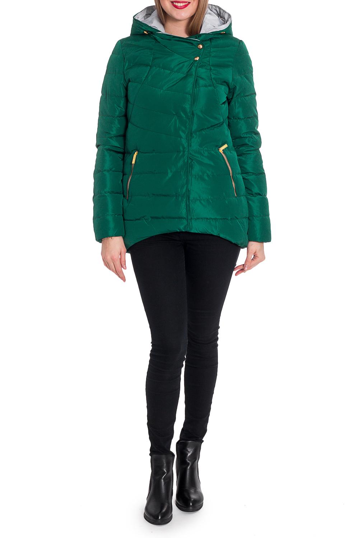 КурткаКуртки<br>Однотонная куртка трапециевидного силуэта с капюшоном. Модель выполнена из плотной болоньи. Отличный выбор для повседневного гардероба.  В изделии использованы цвета: зеленый  Рост девушки-фотомодели 170 см.<br><br>Воротник: Стойка<br>Застежка: С кнопками,С молнией<br>По длине: Короткие<br>По материалу: Плащевая ткань<br>По рисунку: Однотонные<br>По силуэту: Свободные<br>По стилю: Кэжуал,Молодежный стиль,Повседневный стиль,Спортивный стиль<br>По элементам: С капюшоном,С карманами<br>Рукав: Длинный рукав<br>По сезону: Осень,Весна<br>Размер : 42,44,46,48<br>Материал: Болонья<br>Количество в наличии: 4
