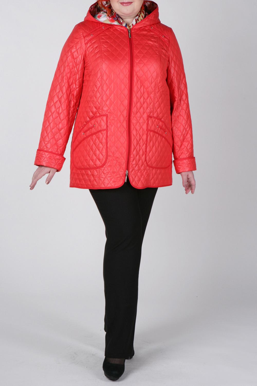 КурткаКуртки<br>Красивая куртка с цветным подкладом. Модель выполнена из стеганной непродуваемой ткани. Отличный выбор для повседневного гардероба.  Цвет: коралловый  Рост девушки-фотомодели 172 см<br><br>По длине: Средней длины<br>По материалу: Плащевая ткань<br>По рисунку: Однотонные,Фактурный рисунок<br>По сезону: Весна,Осень<br>По силуэту: Прямые<br>По стилю: Повседневный стиль<br>По элементам: С декором,С капюшоном,С карманами,С манжетами<br>Рукав: Длинный рукав<br>Застежка: С молнией<br>Размер : 58<br>Материал: Болонья<br>Количество в наличии: 1