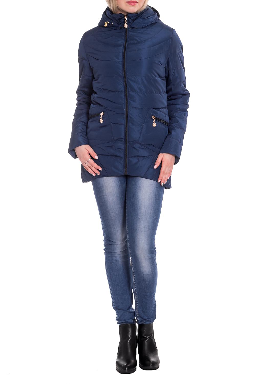 КурткаКуртки<br>Однотонная куртка с длинными рукавами, фигурным подолом и капюшоном. Модель выполнена из плотной болоньи. Отличный выбор для повседневного гардероба.  В изделии использованы цвета: синий  Рост девушки-фотомодели 170 см.<br><br>Воротник: Стойка<br>Застежка: С молнией<br>По длине: Короткие<br>По материалу: Плащевая ткань<br>По рисунку: Однотонные<br>По силуэту: Полуприталенные<br>По стилю: Кэжуал,Молодежный стиль,Повседневный стиль,Спортивный стиль<br>По элементам: С капюшоном,С карманами,С отделочной фурнитурой,С фигурным низом<br>Рукав: Длинный рукав<br>По сезону: Осень,Весна<br>Размер : 42,44,46,50<br>Материал: Болонья<br>Количество в наличии: 4