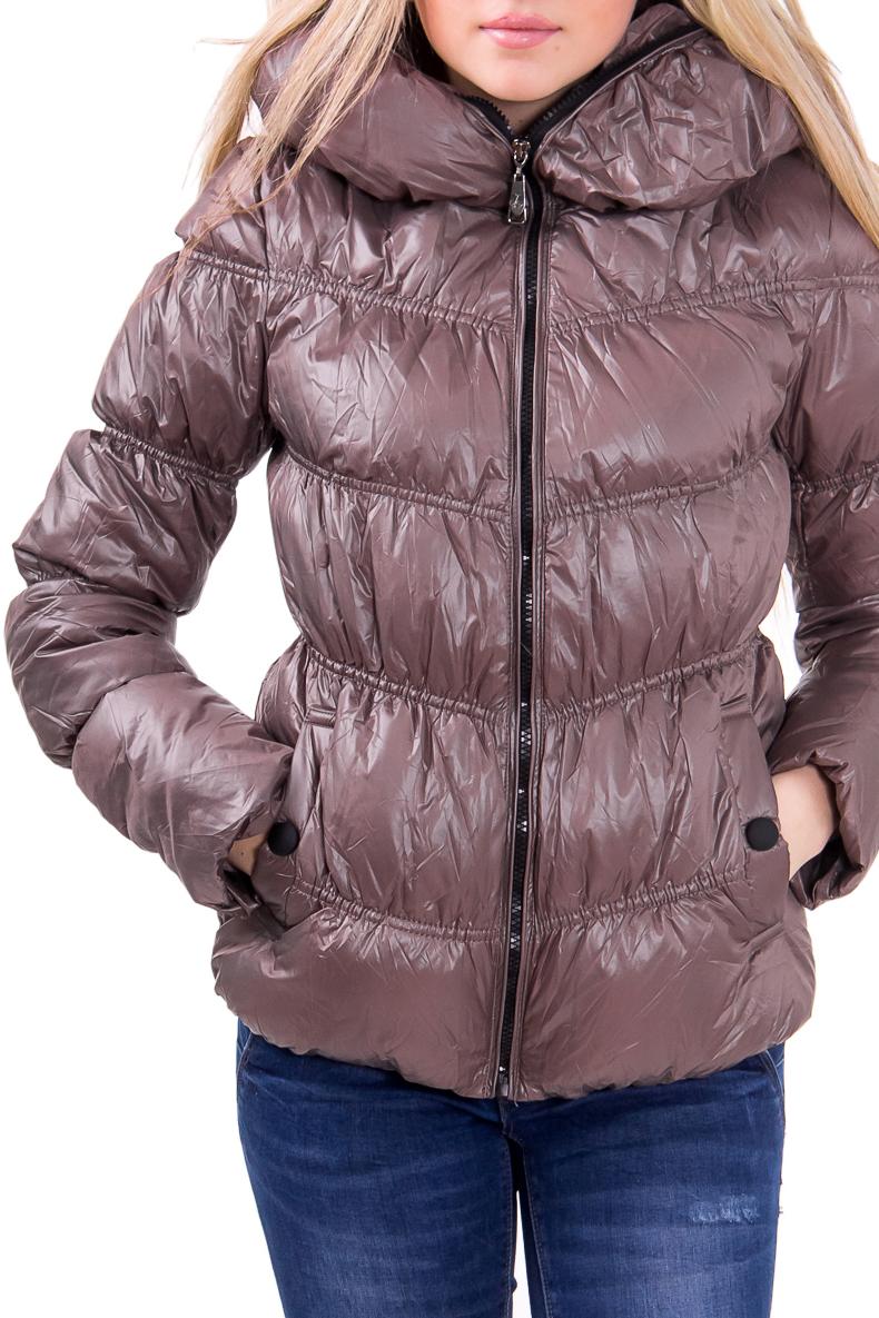 КурткаКуртки<br>Женская куртка. Модель выполнена из однотонной болоньевой ткани. Отличный вариант для повседневного гардероба  Цвет: коричневый  Фурнитура: молнии  Рост девушки-фотомодели 164 см<br><br>Воротник: Стойка<br>По длине: Короткие,Средней длины<br>По материалу: Плащевая ткань<br>По образу: Город,Деним (джинс)<br>По рисунку: Однотонные<br>По сезону: Весна,Осень<br>По форме: Кожаная куртка<br>По элементам: С декором,С капюшоном,С карманами<br>Рукав: Длинный рукав<br>По силуэту: Полуприталенные<br>По стилю: Молодежный стиль,Повседневный стиль<br>Застежка: С молнией<br>Размер : 42,44,48<br>Материал: Болонья<br>Количество в наличии: 3